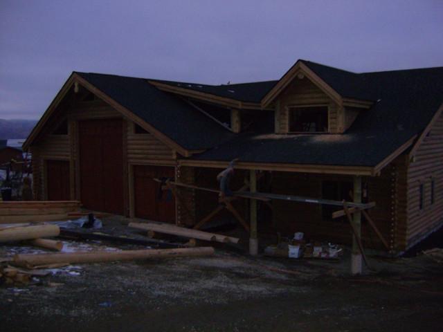 Gold Valley Log Homes Project in La Grande, Oregon