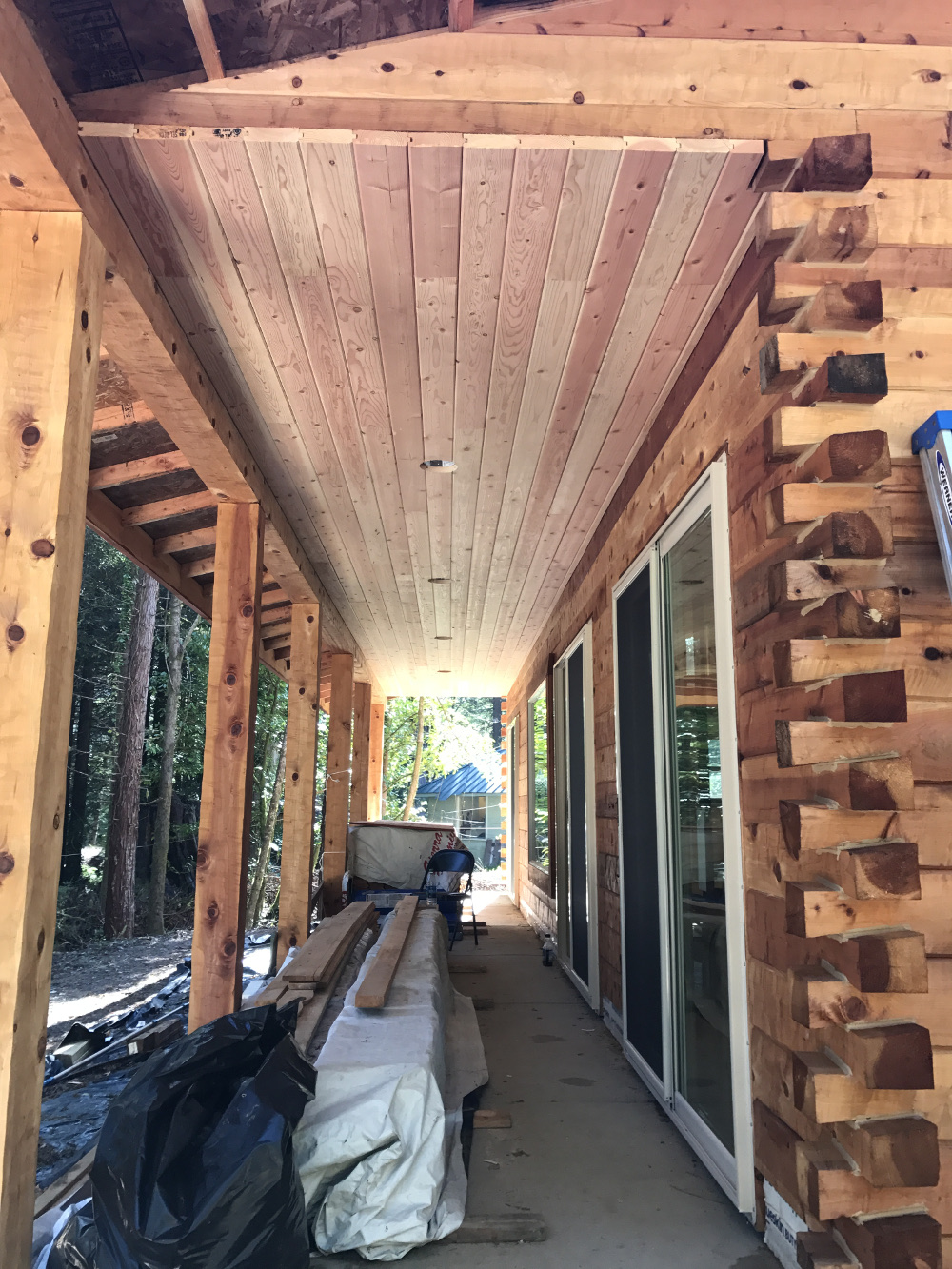 Gold Valley Log Homes Project in Crecent City CA